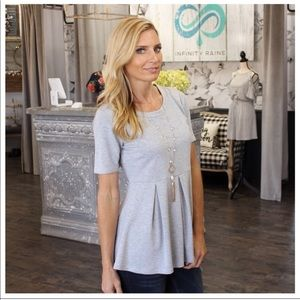Peplum Gray Tunic